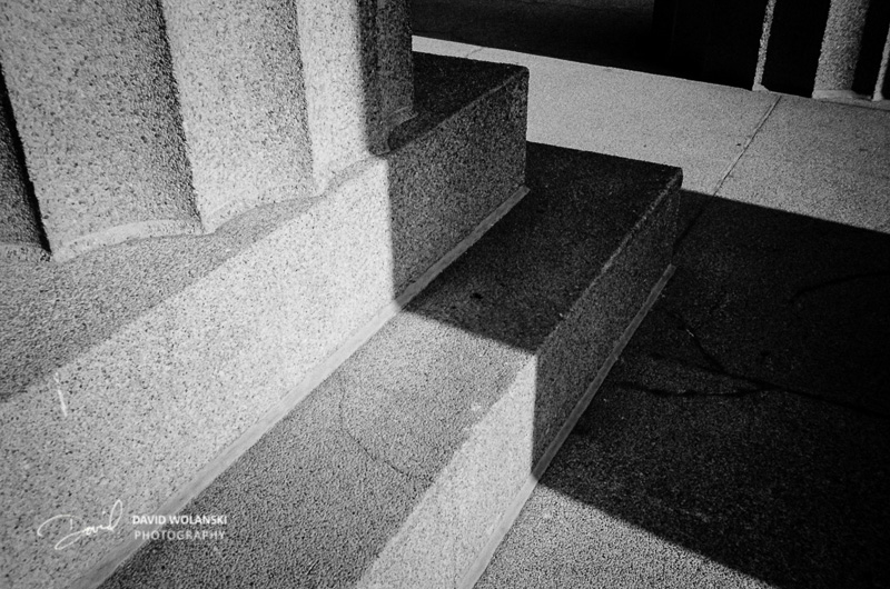 Column base details on the Parthenon in Nashville, TN. Shot on 35mm color, and converted to B&W