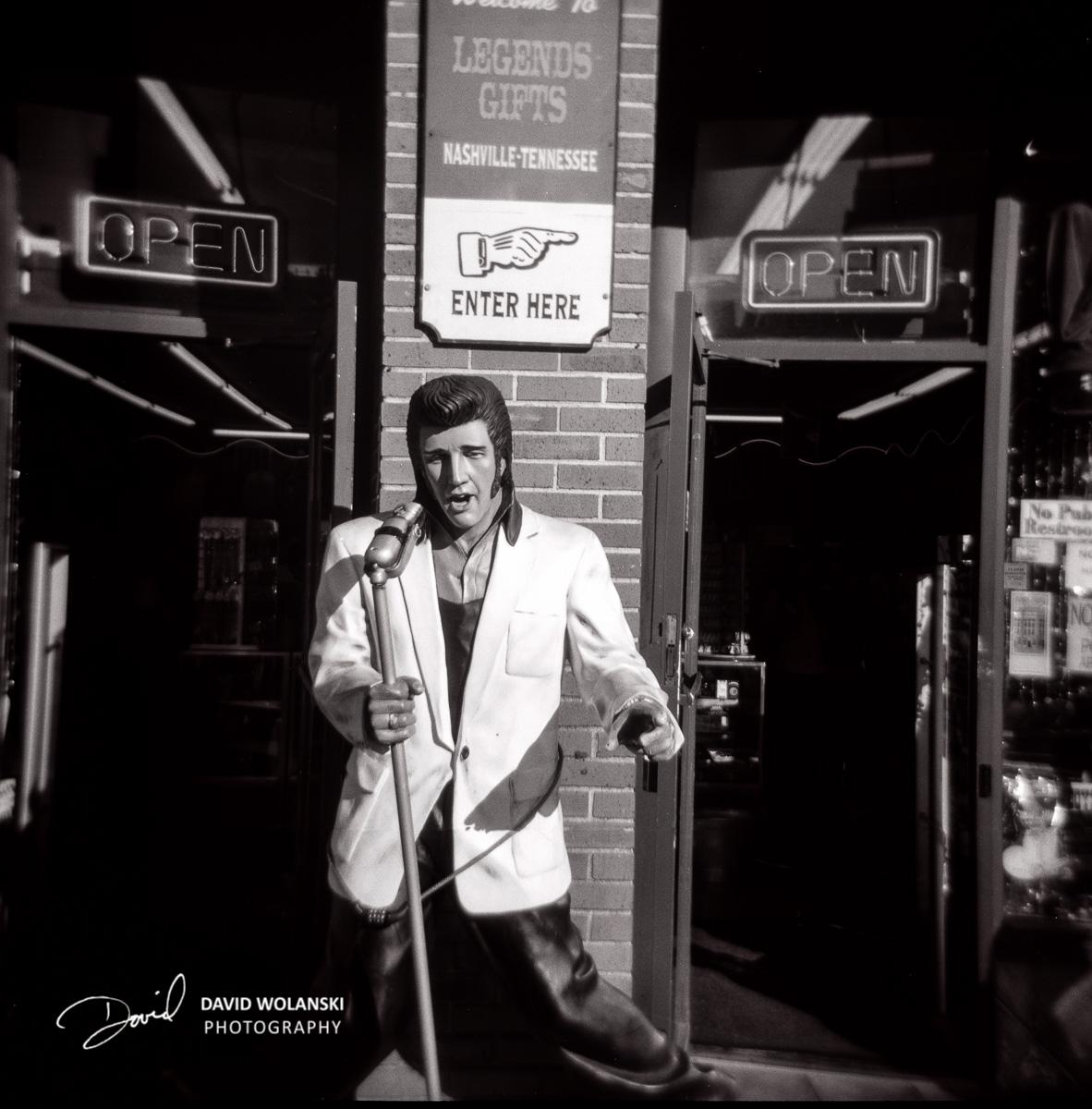 Elvis Presley, Nashville, by way of a Holga
