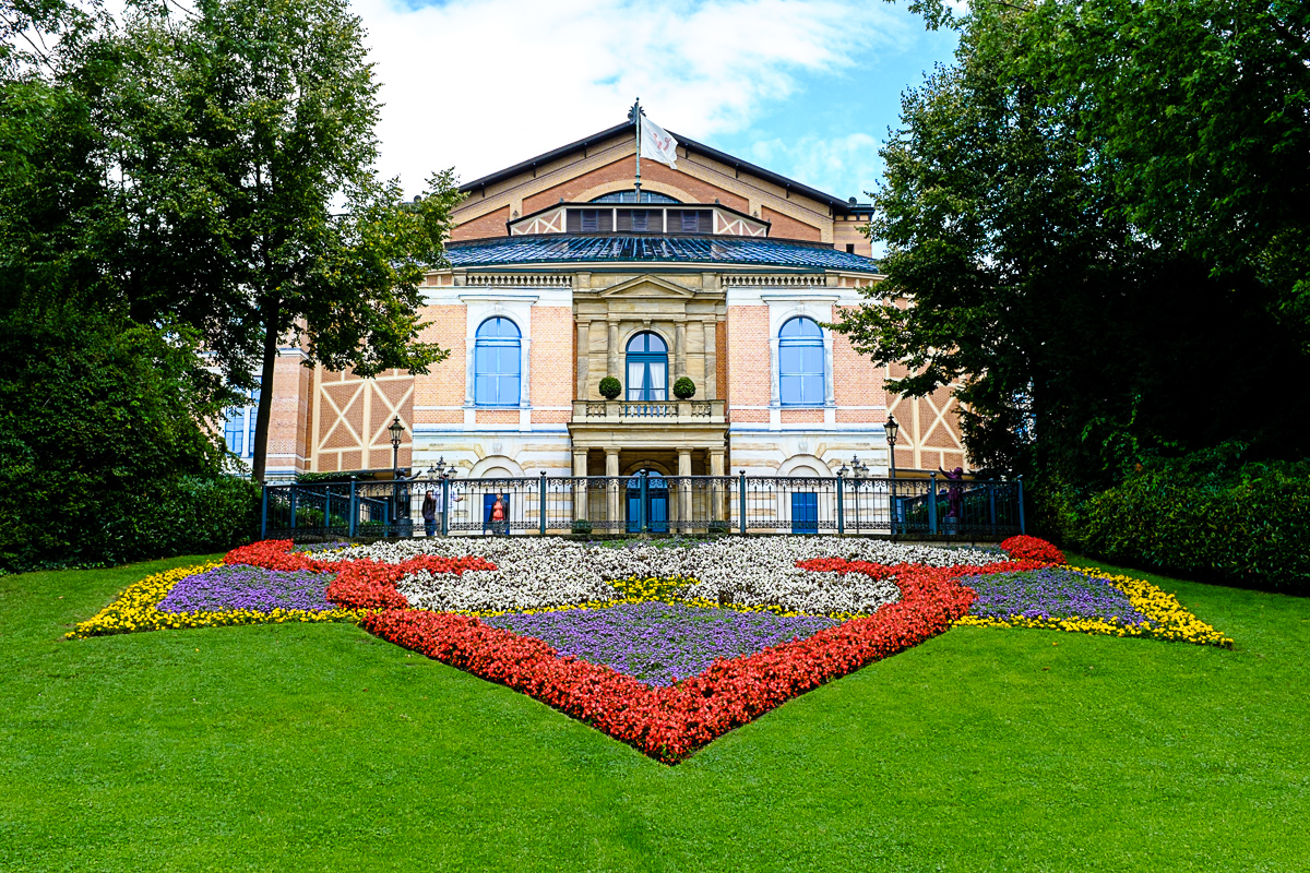 So, myself and 8000 other photographers have done this postcard shot of the Wagner Concert Hall in Bayreuth Germany. Oh well. I had to do my take on it too.