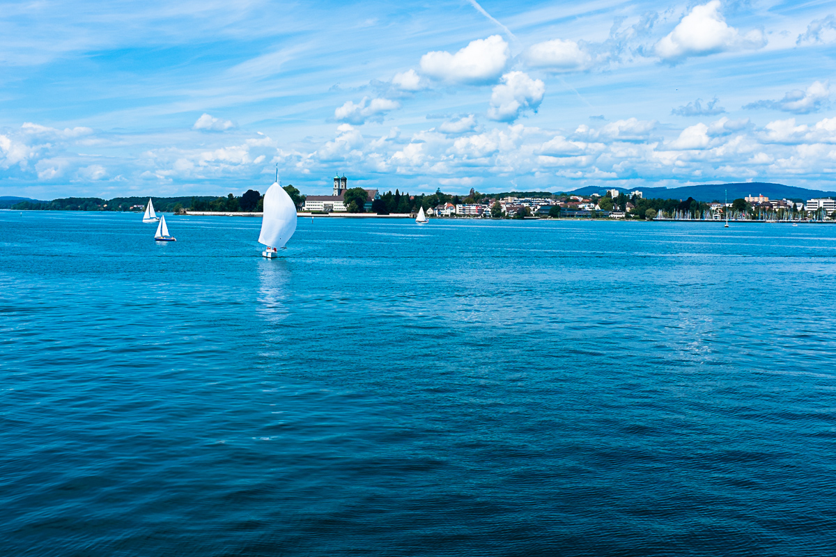 We went across Lake Constance from Germany into Switzerland. I thought it was cool there were no border guards, though I would have liked to have my passport stamped.