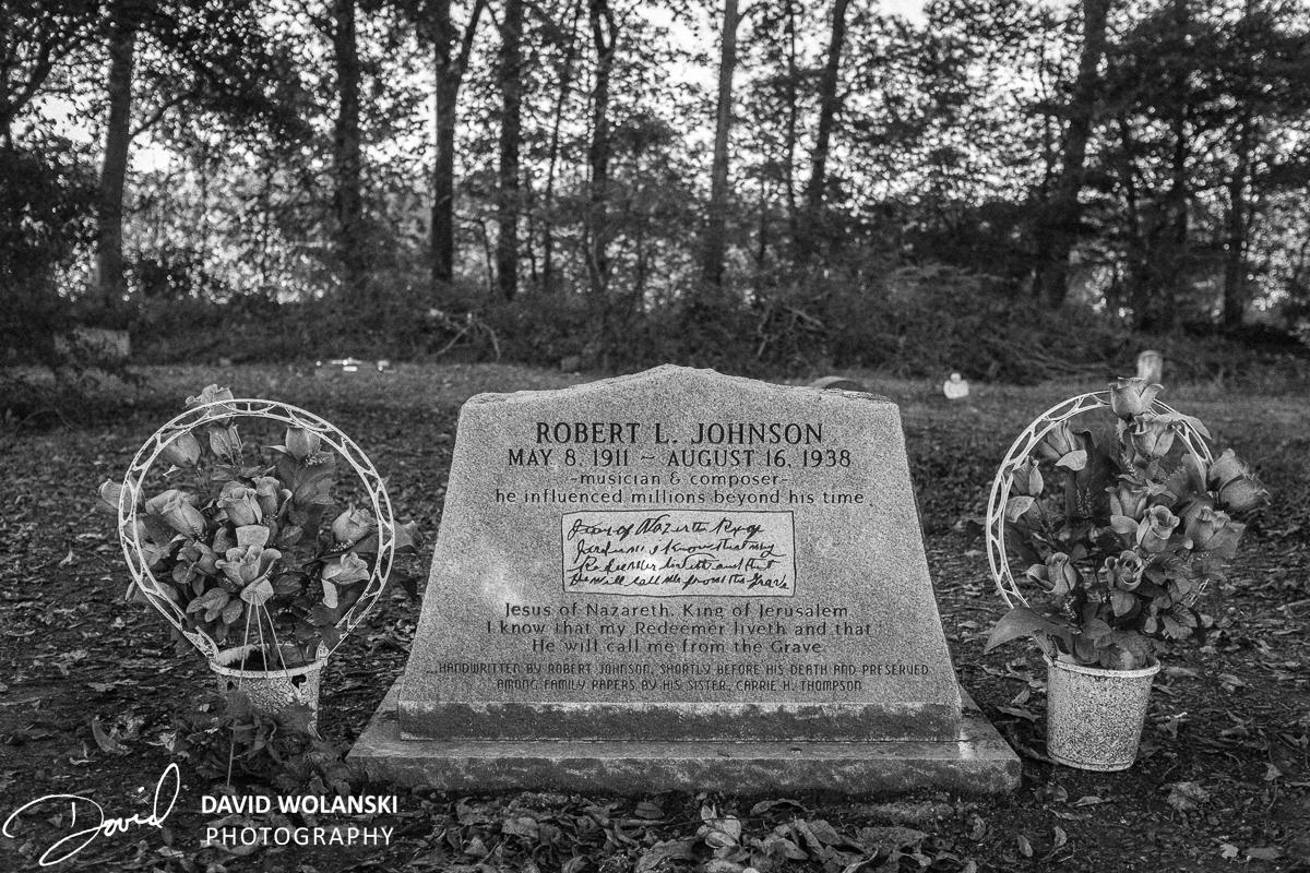 Robert Johnson's headstone