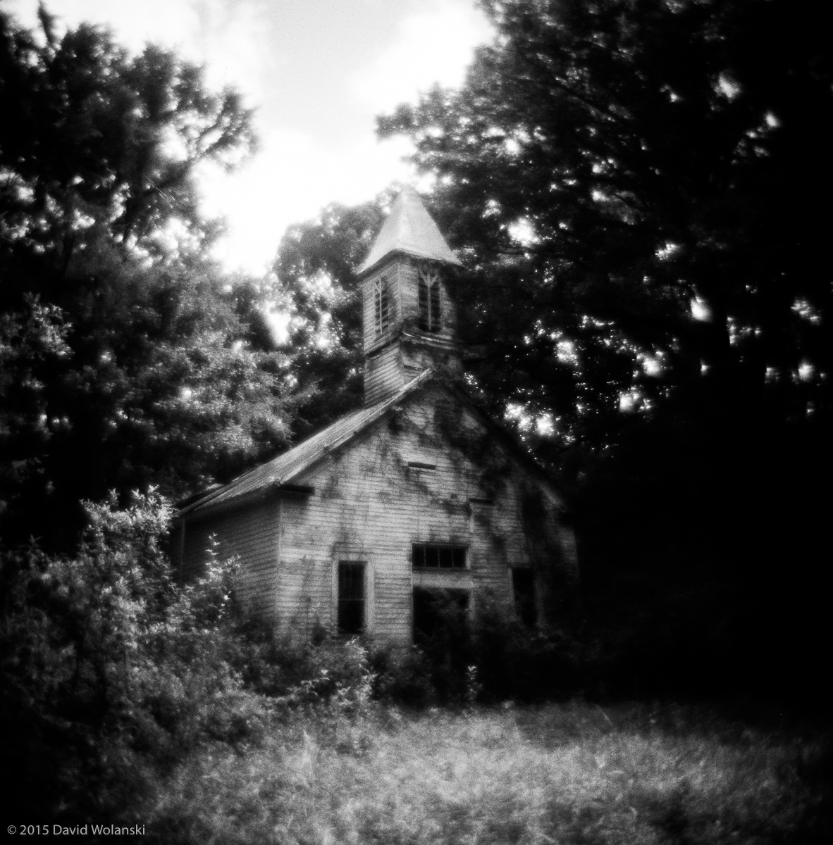 Abandoned old church, waiting for gravity to kick in....