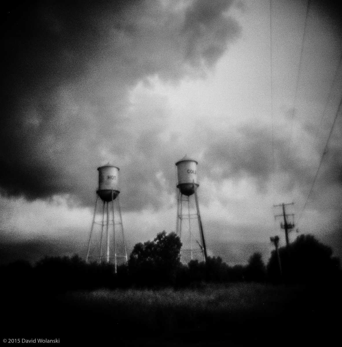Hot and Cold water towers in Mississippi.
