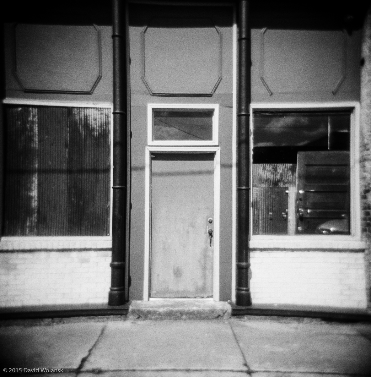 holga film photos of a doorway