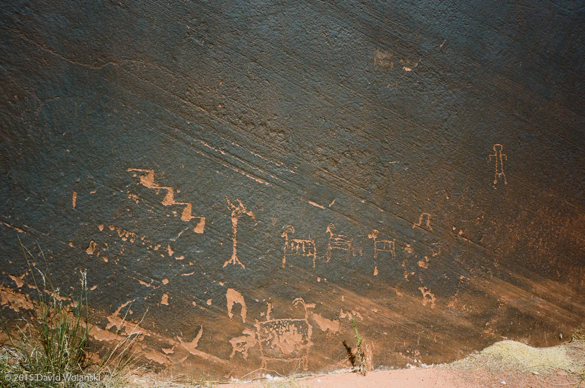 Petroglyphs near Horseshoe Bend in the Colorado River