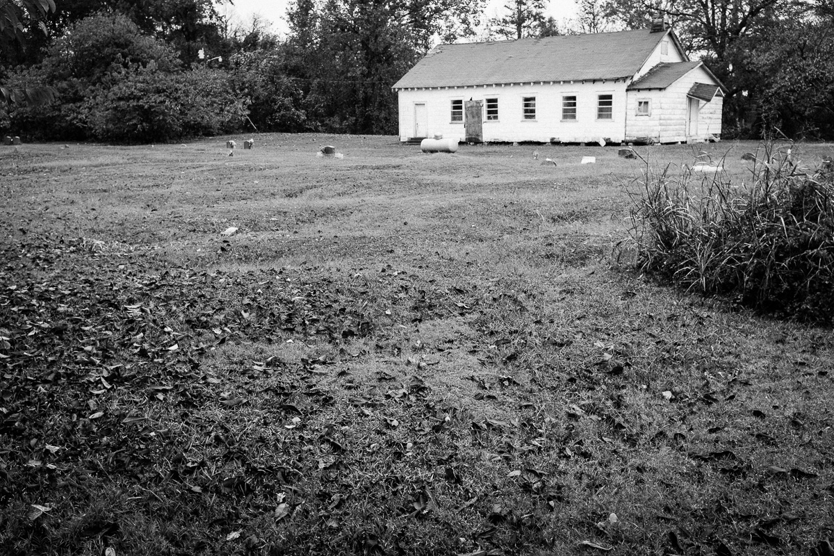 Abandoned church and cemetery, Mississippi Delta.