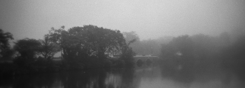 Holga and a Foggy Morning on Silver Lake, Dover: Made for each other!
