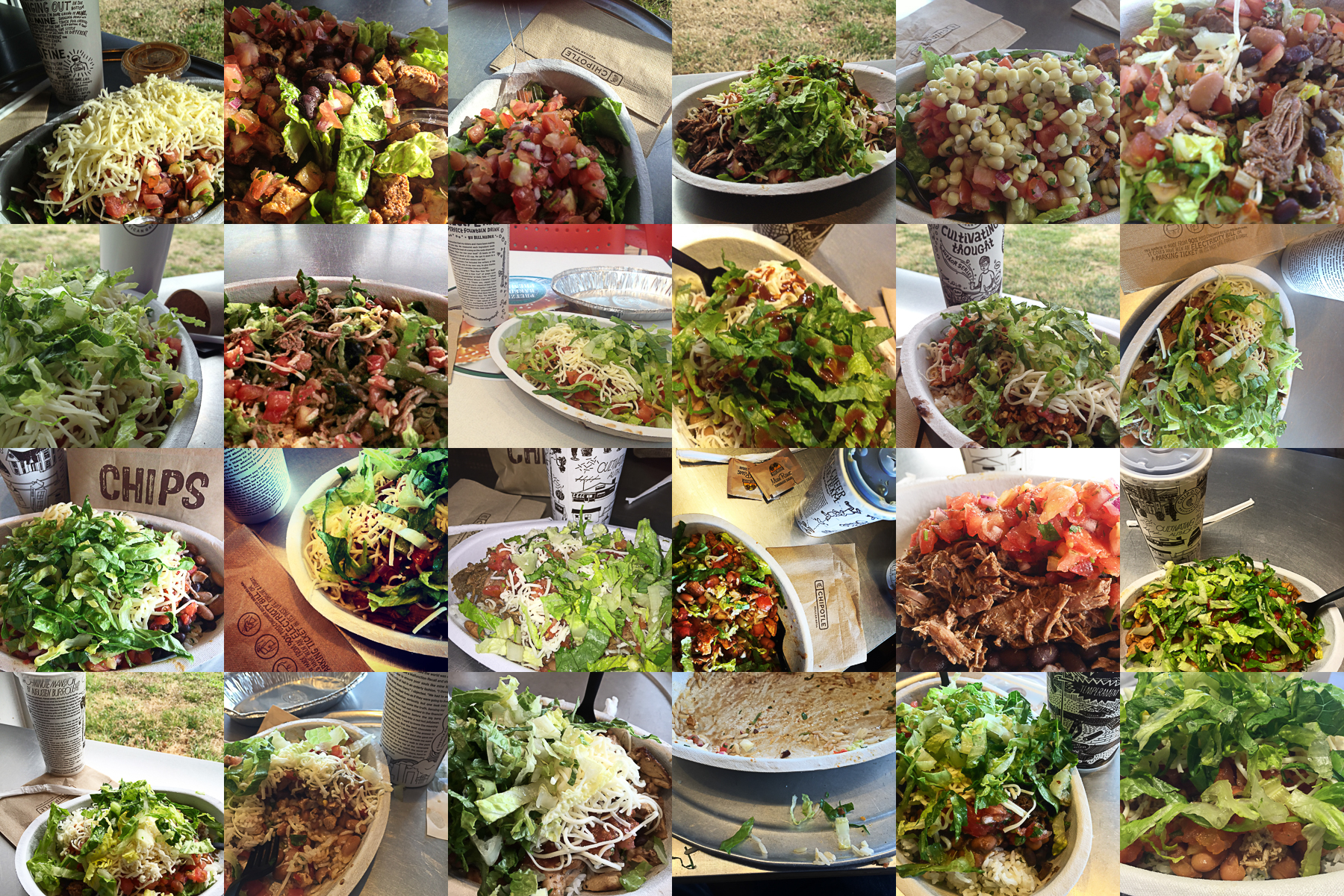 24 Chipotle lunches